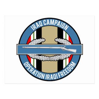 Iraq Campaign CIB Postcard