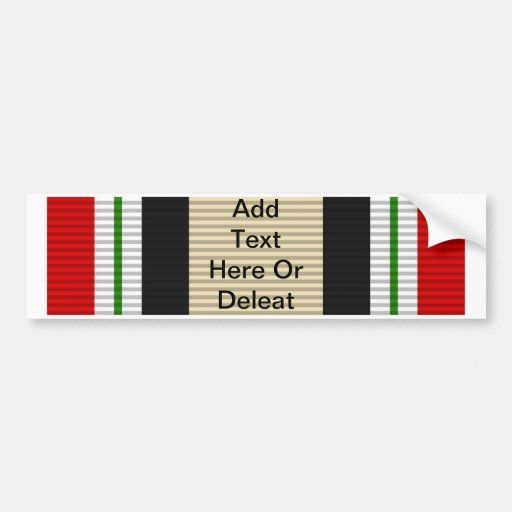 Iraq Campaign Medal Bumper Stickers
