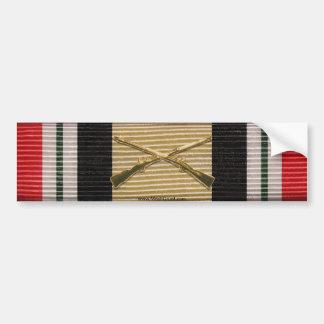 Iraq Campaign Medal Crossed Rifles Sticker Bumper Sticker