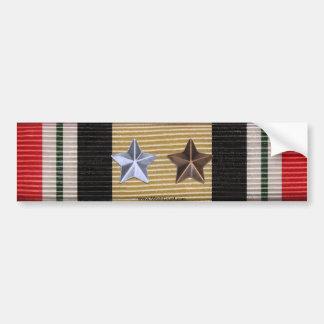 Iraq Campaign Medal Ribbon 6 Battle Stars Sticker