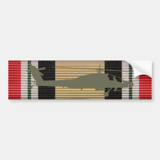 Iraq Campaign Medal Ribbon AH-64 Apache Sticker