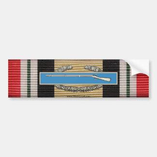 Iraq Campaign Medal Ribbon & CIB Sticker