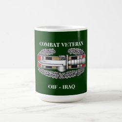 Iraq Campaign Ribbon CAB Combat Veteran Coffee Mug