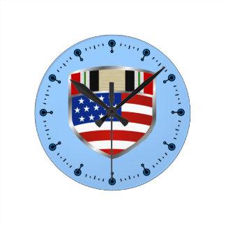Iraq Campaign Ribbon Wall Clock