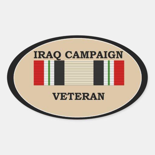 Iraq Campaign Veteran Sticker.