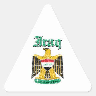 Iraq coat of arms designs triangle sticker