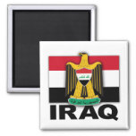 Iraq Coat of Arms Flag 2 Inch Square Magnet