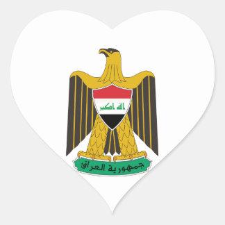 Iraq Coat of Arms Heart Sticker