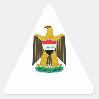 Iraq Coat of Arms Triangle Sticker