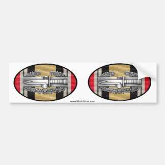 Iraq Combat Action Badge Euro-Oval Sticker Pair Bumper Sticker
