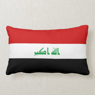 Iraq country long flag nation symbol republic lumbar pillow