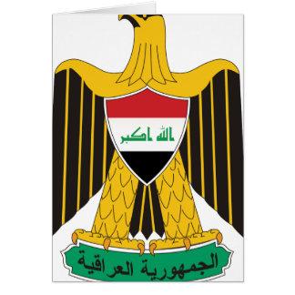 iraq emblem card