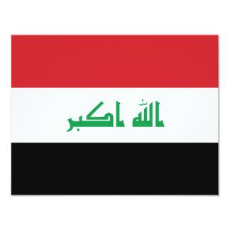 Iraq flag 4.25x5.5 paper invitation card