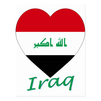 Iraq Flag Heart Postcard