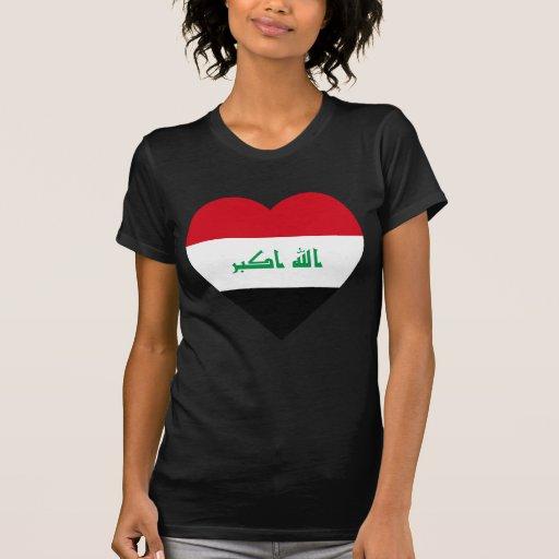 Iraq Flag Heart Tees