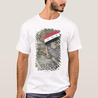 Iraq flag in map T-Shirt
