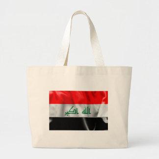 Iraq Flag Large Tote Bag