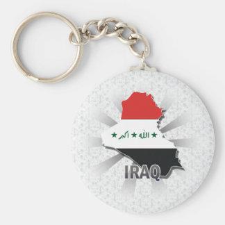 Iraq Flag Map 2.0 Basic Round Button Keychain