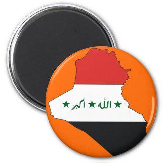 Iraq flag map 2 inch round magnet