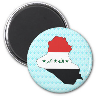 Iraq Flag Map full size 2 Inch Round Magnet