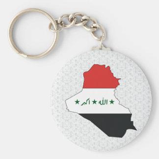 Iraq Flag Map full size Basic Round Button Keychain