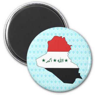 Iraq Flag Map full size Magnet