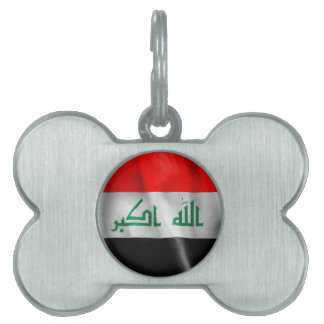 Iraq Flag Pet ID Tag