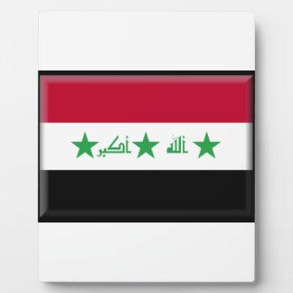 Iraq Flag Photo Plaque