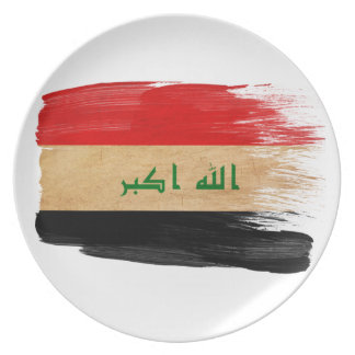 Iraq Flag Party Plate