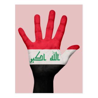 Iraq flag postcard