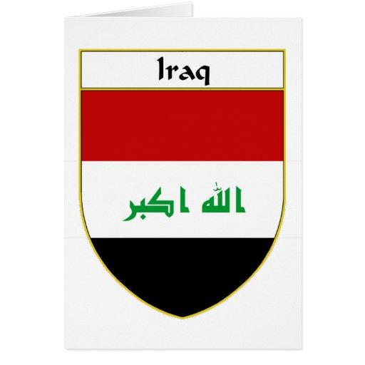 Iraq Flag Shield Card