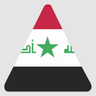 Iraq Flag Triangle Sticker