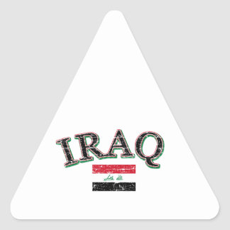 Iraq football design triangle sticker