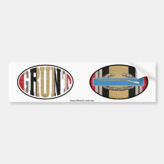 Iraq GRUNT and CIB Euro-Oval Sticker Pair Bumper Sticker