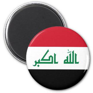 Iraq IQ , جمهورية العـراق کۆماری عێراق Flag, Baghd 2 Inch Round Magnet