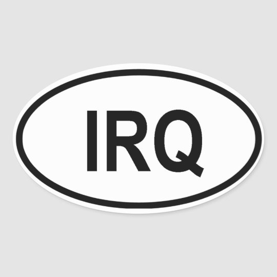 "Iraq ""IRQ"" Oval Sticker"