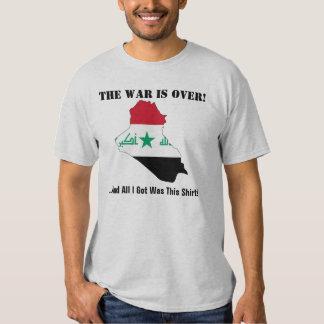 IRAQ la guerra ha terminado Remera