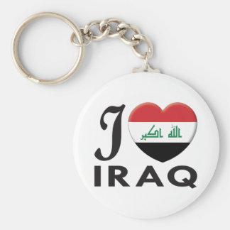 Iraq Love Basic Round Button Keychain