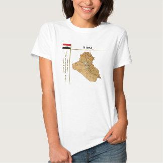 Iraq Map + Flag + Title T-Shirt