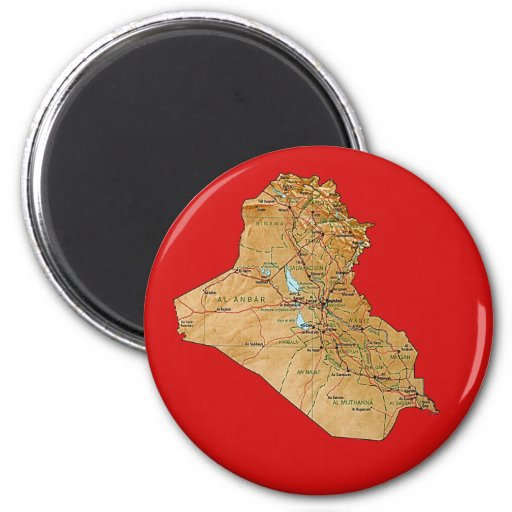 Iraq Map Magnet