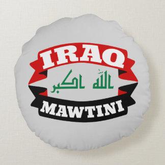 Iraq mi bandera de la bandera de la patria cojín redondo