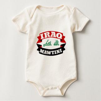 Iraq My Homeland Banner Flag Baby Bodysuit