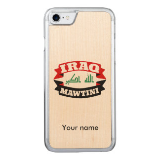 Iraq My Homeland Banner Flag Carved iPhone 8/7 Case