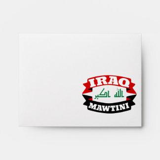 Iraq My Homeland Banner Flag Envelope