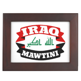 Iraq My Homeland Banner Flag Keepsake Box