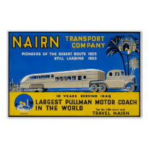 Iraq Nairn Vintage Travel Poster Restored