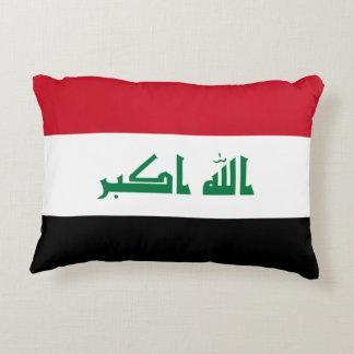 Iraq National World Flag Accent Pillow