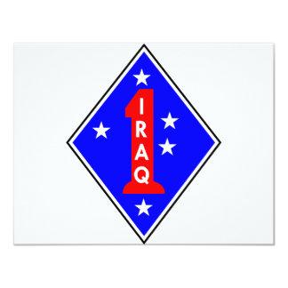 Iraq Patch #1 4.25x5.5 Paper Invitation Card