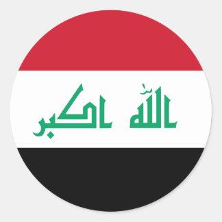 Iraq Pegatina Redonda