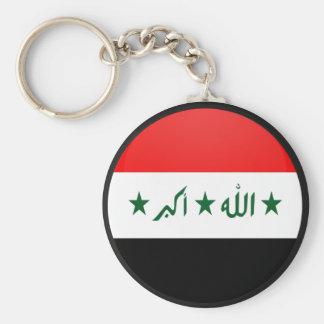 Iraq quality Flag Circle Keychain